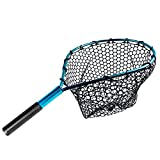 LLP Fly Fishing Net, Fish Landing Net, Trout Bass Net, for Freshwater and Saltwater Fishing, 17.7in * 13.6in, for Steelhead, Salmon, Fly, Kayak, Catfish, Bass, Trout Fishing