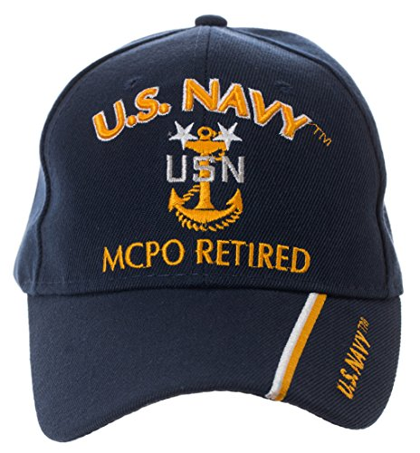 Artisan Owl Officially Licensed US Navy Retired Baseball Cap - Multiple Ranks! (Master Chief Petty Officer)