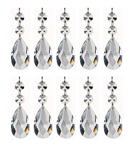 Feililong 12PCS Teardrop kristall Schmuckanhänger Anhänger Glass Glasperle Chandelier Crystal für Hochzeit House Office Dekoration