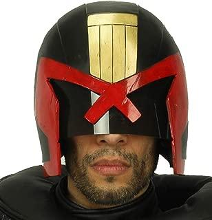 Xcoser Judge Dredd Mask Deluxe Resin Full Head Adult Halloween Cosplay Costume Prop