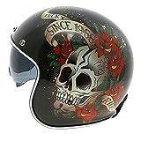 Sunzy Demi-Casque Moto Harley rétro pour Adultes, Hommes et Femmes, Casque avec...