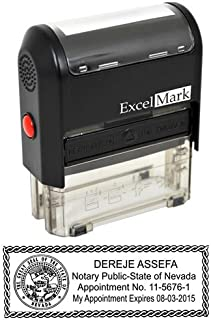 ExcelMark Self Inking Notary Stamp - Nevada