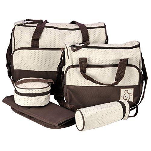 Multifunktions Baby Windel Wickeltasche/Mama ändern Set Handtasche (5Stück)