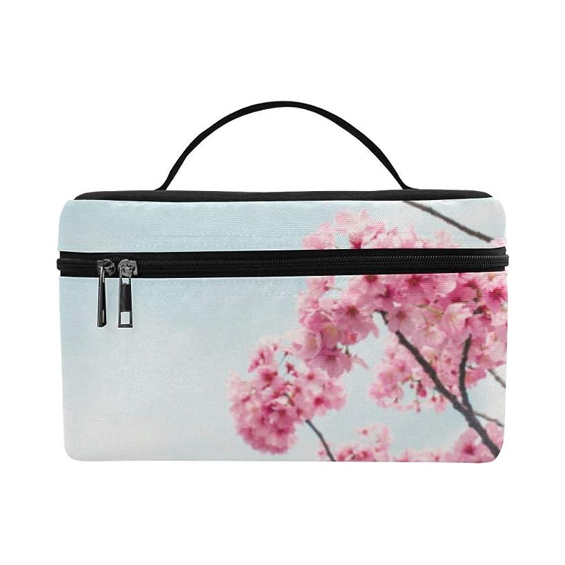 骨髄かまど悪化させるGGSXD メイクボックス ピンクの桜 コスメ収納 化粧品収納ケース 大容量 収納ボックス 化粧品入れ 化粧バッグ 旅行用 メイクブラシバッグ 化粧箱 持ち運び便利 プロ用