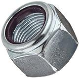 Steel Hex Nut, Zinc Plated Finish, Grade 5, Self-Locking Nylon Insert, Right Hand Threads, 1/2'-20 Threads,...