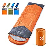 oaskys Camping Sleeping Bag - 3 Season Warm & Cool Weather - Summer, Spring, Fall, Lightweight, Waterproof for Adults & Kids - Camping Gear Equipment, Traveling, and Outdoor