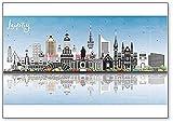 Leipzig Deutschland City Skyline - Kühlschrankmagnet