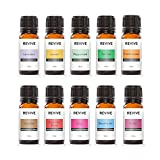 Starter Kit by Revive Essential Oils - 100% Pure Therapeutic Grade, for Diffuser, Humidifier, Massage, Aromatherapy, Skin & Hair Care