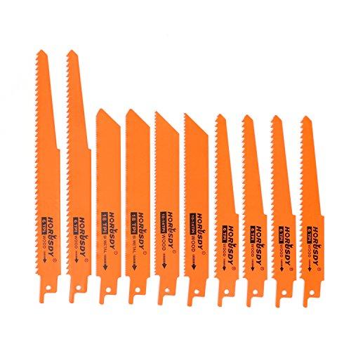HORUSDY Metal Reciprocating Saw Blade Set/Wood Pruning Saw Blades (10Piece))