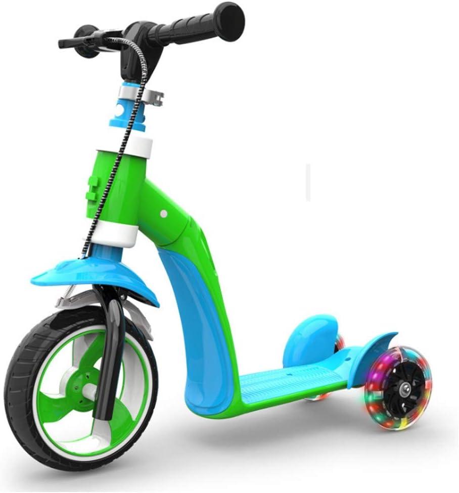 DUANYR-Baby Bicycle El Scooter para niños de 3 a 6 años Puede Sentarse en el Cochecito de bebé para niños con múltiples Funciones Flash de Tres Ruedas yo-yo, Multicolor Puede Elegir