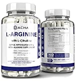 Premium L Arginine Pills 1920 MG - 120 VCAPS AAKG Nitric Oxide Precursor, L-Citrulline HCL, Beta Alanine, Essential Amino Acids for Energy, Muscle Growth, Heart Health, Vascularity & Stamina