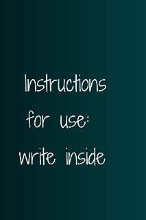 Instructions for use: write inside: Basic notebook