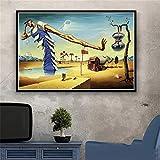 JHGJHK Salvador Dalí surrealismo Arte Mural Pintura al óleo Cartel Retro Pintura al óleo Utilizada para la decoración del hogar de la Sala de Estar (Imagen 7)