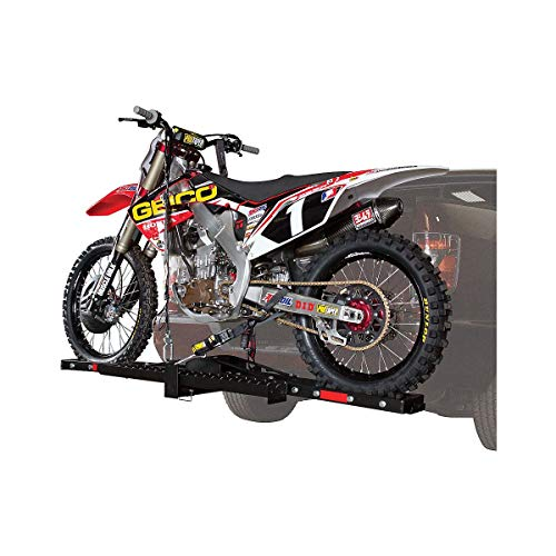 Trackside Motorcycle Carrier Hauler Hitch Mount Steel Rack...