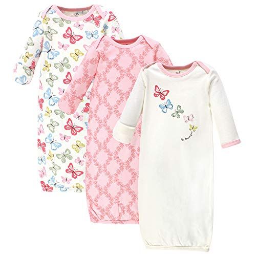Touched by Nature Unisex Baby Organic Cotton Gowns, Butterflies, 0-6 Months