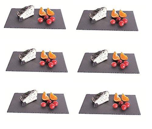 6 Stück Naturschieferplatte Schieferplatte Schieferplatten rechteckig 40 x 30 cm