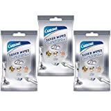 Carbona Silver Wipes | Metal Cleaner & Polish | 12 Wipes, 3 Pack