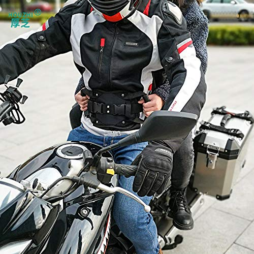 Alician Motorcycle Scooters Safety Belt Rear Seat Passenger Grip Grab Handle Non-Slip Strap Universal Motorcycle Seat Strap for Children