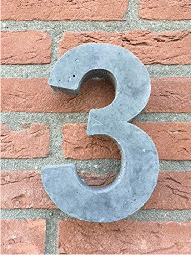 Hausnummer von Beton Nr.3 20cm hoch, Versand innerhalb von 1-2 Tagen