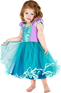 Princess Girl Dress Little Mermaid Cinderella Rapunzel Costume for Toddler Girls Birthday Party Dress up