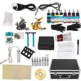 Kit de máquina de tatuaje, semipermanente profesional, para principiantes y principiantes, juego de herramientas con pigmentos para pistolas de tatuaje
