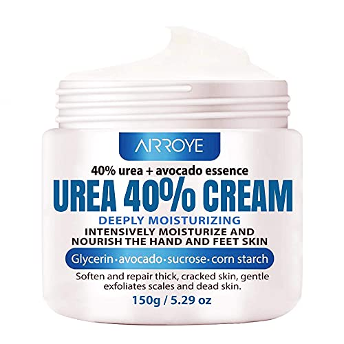 Urea 40% Foot Cream 5.29 oz ‖ Best Callus Remover For Feet, Knees& Elbows ‖ Natural Moisturizes Nourishes Softens Dry, Rough, Cracked, Dead Skin