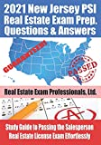 2021 New Jersey PSI Real Estate Exam Prep Questions and Answers: Study Guide to Passing the Salesperson Real Estate License Exam Effortlessly
