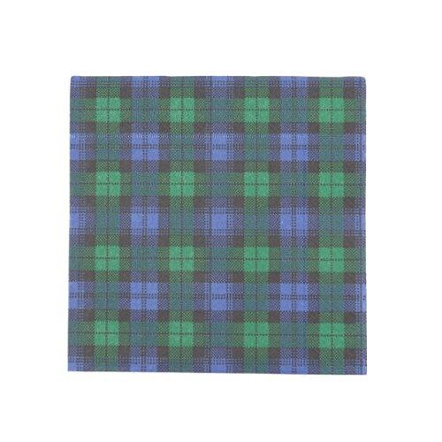 Lot de 20Serviettes de table en papier à motif tartan «Black Watch» et «Royal Stewart»