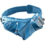 Salomon Cinturón de hidratación, Unisex, SENSIBELT, Incl. botella 3D 600 ml, Azul (Vivid Blue), 600 ml, LC1304600