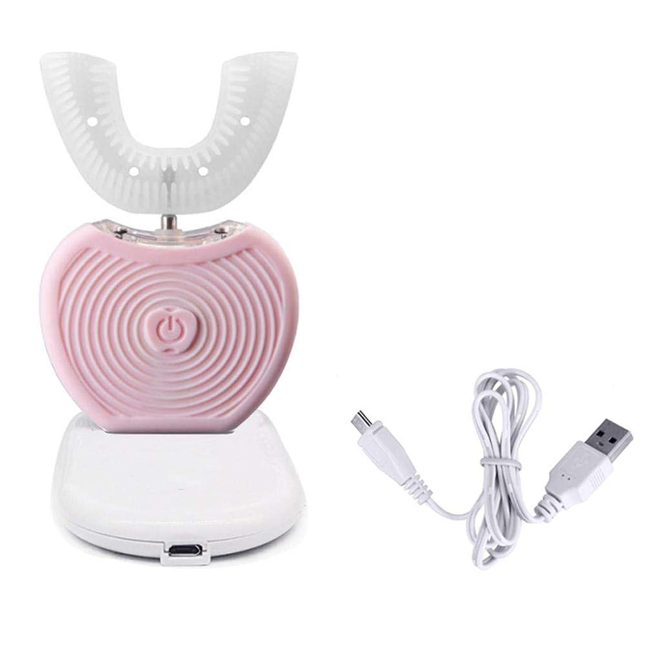 起こる同様に先見の明PUERI 電動歯ブラシ 全自動360°電動歯ブラシ USBポータブルインテリジェントフルオート可変周波数 冷光白色化装置自動歯ブラシ