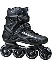 Sljj Inline Skates Adult women And Men, Professional Roller Skate Shoes for Girls Boys, Outdoor Indoor Roller Inline Skates Children Beginner Unisex (black)