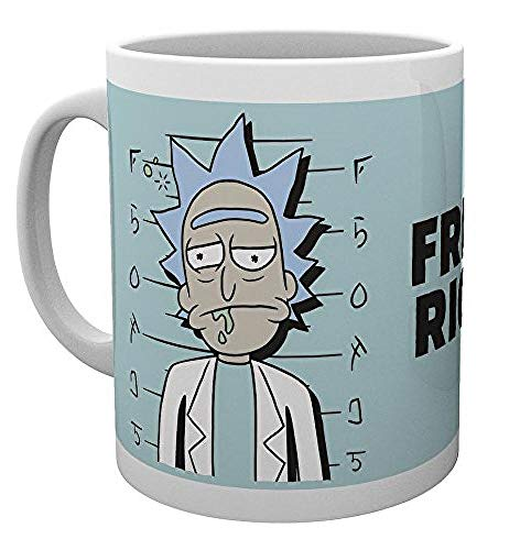 GB eye LTD, Morty, Free Rick, taza de madera, varios, 15 x...