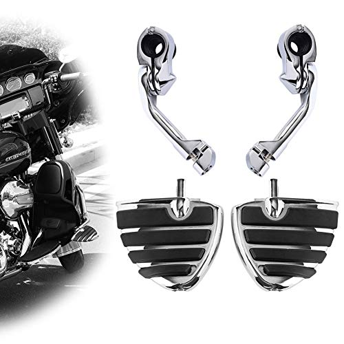 Motorcycle Footpegs Foot Rest Highway Pegs Foot pegs(Chrome) for Harley Road King Street Glide Suzuki Yamaha Honda Kawasaki Engine Guard