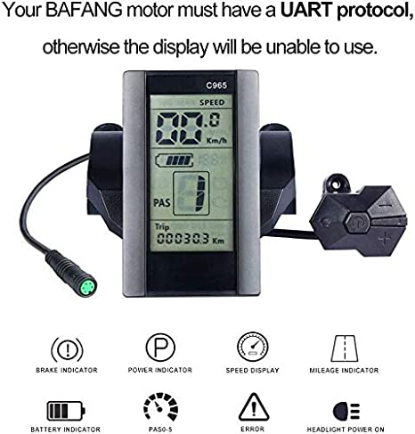 BAFANG Speedometer TFT-850C LCD Display DP-C18 Color Screen Display C965 Monochrome Screen Speed Indicator with USB Interface