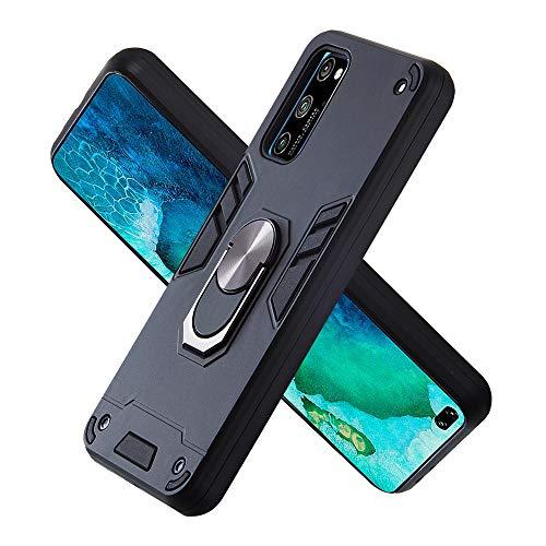 Hülle für Huawei Honor V30 mit Standfunktion, PC + TPU Rüstung Defender Ganzkörperschutz Hard Bumper Silikon Handyhülle stossfest Schutzhülle Case (Schwarz)