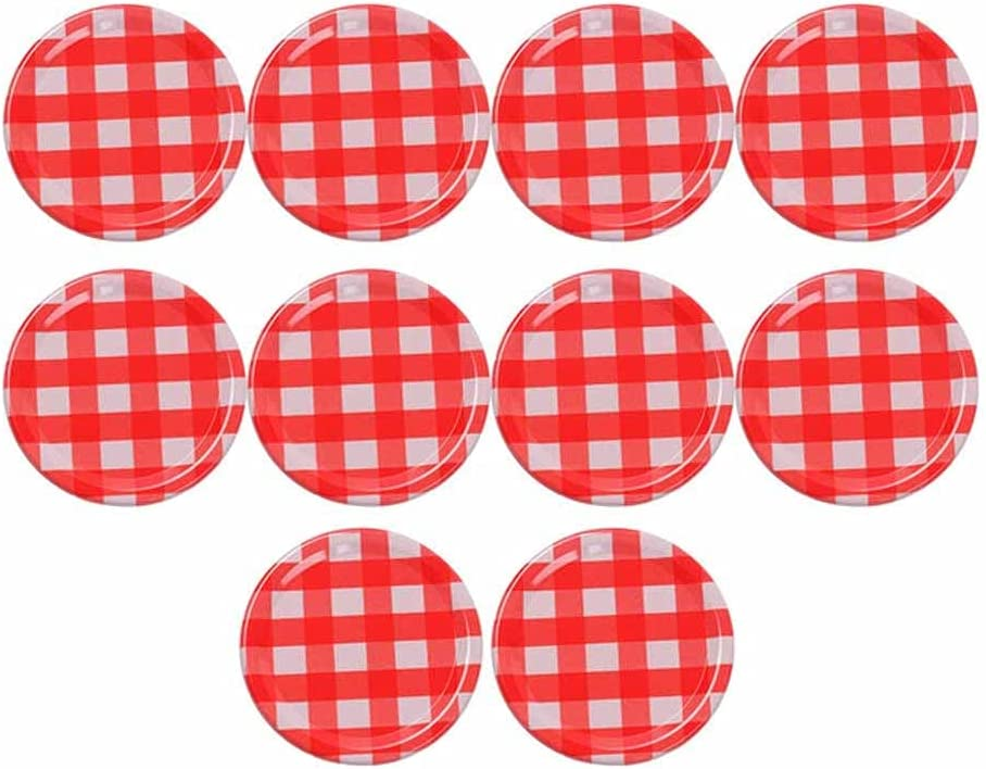 HAHFKJ 10Pc 2021 autumn and winter new 70MM Mason All items in the store Jar Lid C Bottle Discs Split-Type Canning