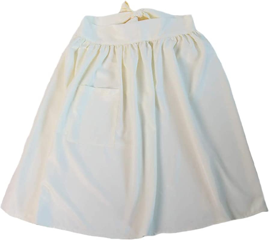 Making Believe Women S Large Colonial Peasant Cream Polyester Apron