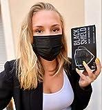 Lot de 50 Masque médical chirurgical NOIR - BLACK SHIELD - TYPE 1 - Filtration EFB 95% - EN14683 - Certification CE