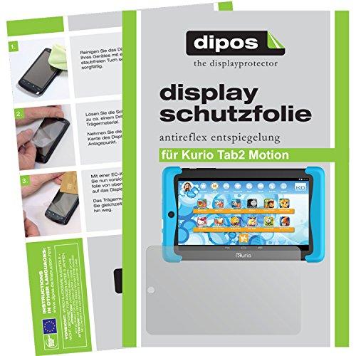 dipos–Protector de pantalla compatible con Kurio Tab2Motion (2unidades, antirreflectante), mate