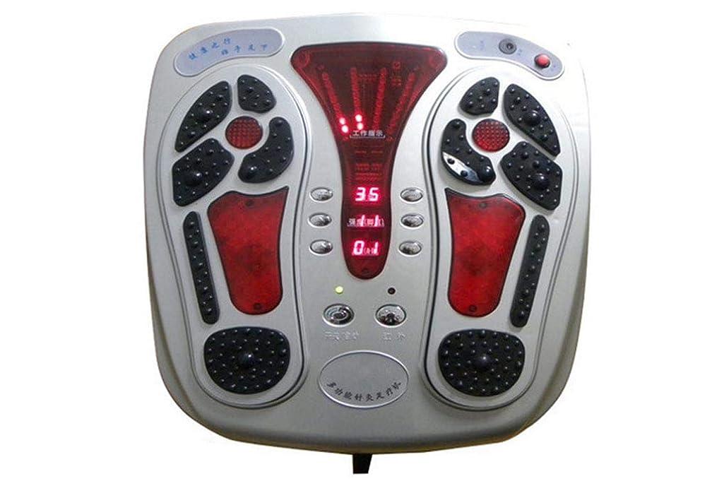 人スリチンモイ火炎電気 電磁式フットサーキュレーションマッサージャー、リモートコントロール、血液循環を改善し、痛みや痛みを和らげるのに役立ちます。 人間工学的デザイン