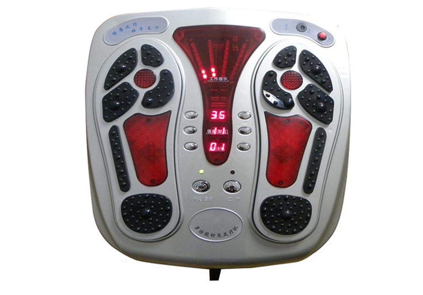スキップツーリスト少ない電磁式フットサーキュレーションマッサージャー、リモートコントロール、血液循環を改善し、痛みや痛みを和らげるのに役立ちます。