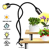 LED Grow Light for Indoor Plants - Relassy 75W Sunlike Full Spectrum Plants Lights 3/6/12H Timer CREE COB Grow Lamp - Dual Head Flexible Gooseneck – 4 Dimmable Lights for House Plants