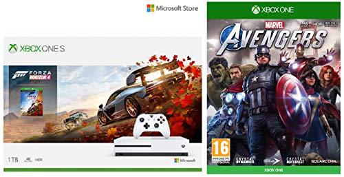 Microsoft 1 TB Xbox One S Console - Forza Horizon 4 Bundle&Marvel's Avengers (Xbox One)