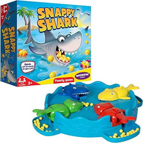 WOWOW Toys & Games Hungry Snappy Shark Family Brettspiel | Große Klassische Familienspaßunterhaltung für Kinder Erwachsene Jungen & Mädchen ab 3 Jahren