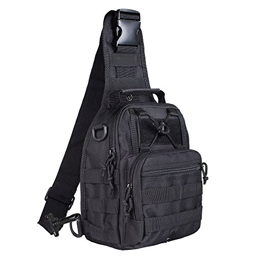 YingStar Sling Shoulder Bag Tactical Military Backpack Daypack Chest Pack Crossbody Rucksack For Digital Camera Men Trekking Hiking Walking Bike Riding Cycling Climbing Camping Travel