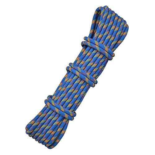 JD Corde de sécurité, 10.5mm / 11mm / 12mm Champ de Corde Assurance spéléo Corde Puissance d'escalade en Plein air en Nylon Corde de Survie de Sauvetage Cordes (Color : 12mm, Size : 30m)