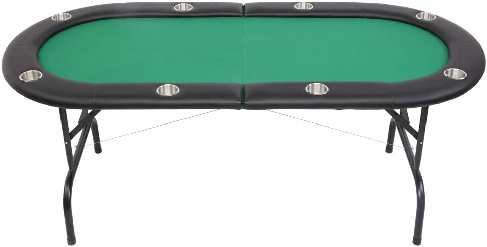 PEXMOR Cheap sale 8 Player Folding Play Poker Table Stainless Cu with price Steel