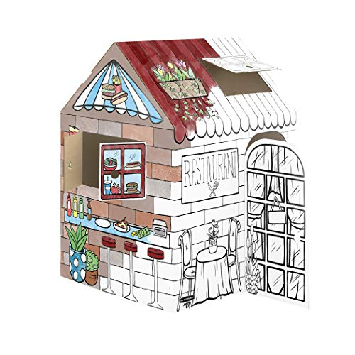 Bankers Box at Play Treats N' Eats Playhouse, Cardboard Playhouse and Craft Activity for Kids