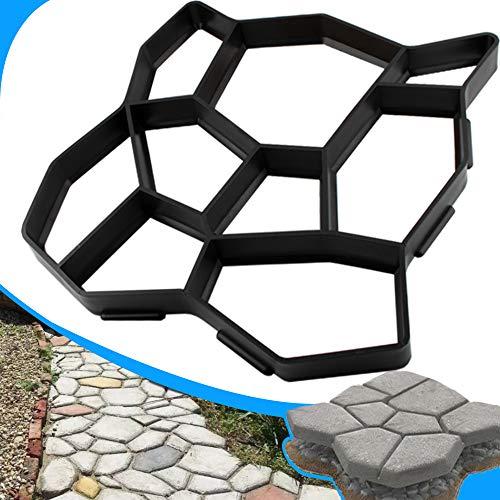 CJGQ ANOTHERA Plus Size 19.6'x19.6'x1.7' Walk Maker Reusable Concrete Pathmate Stone Molding Stepping Stone Paver Lawn Patio Yard Garden DIY Path Maker Paving Moulds (Irregular)
