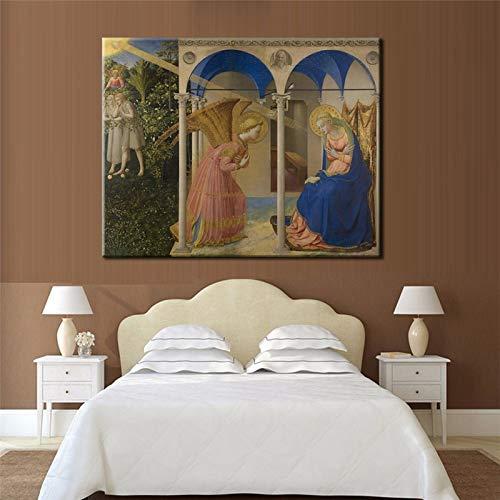 Malowanie DIY według numerów Sztuka malarstwa olejnego Mural anioła w europejskim renesansie Paint by Number Kit Za pomocą pędzla i farby akrylowej maluj według numerów dla40x50cm(Bezszkieletowy)